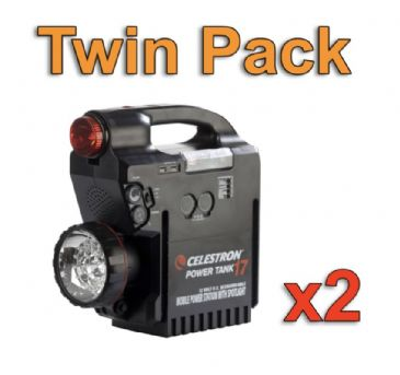 Celestron Power Tank 17ah - Twin Pack Bundle Offer
